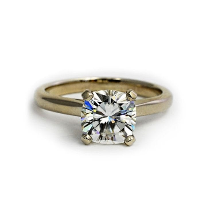 Conflict Free White Gold Solitaire Diamond Ring