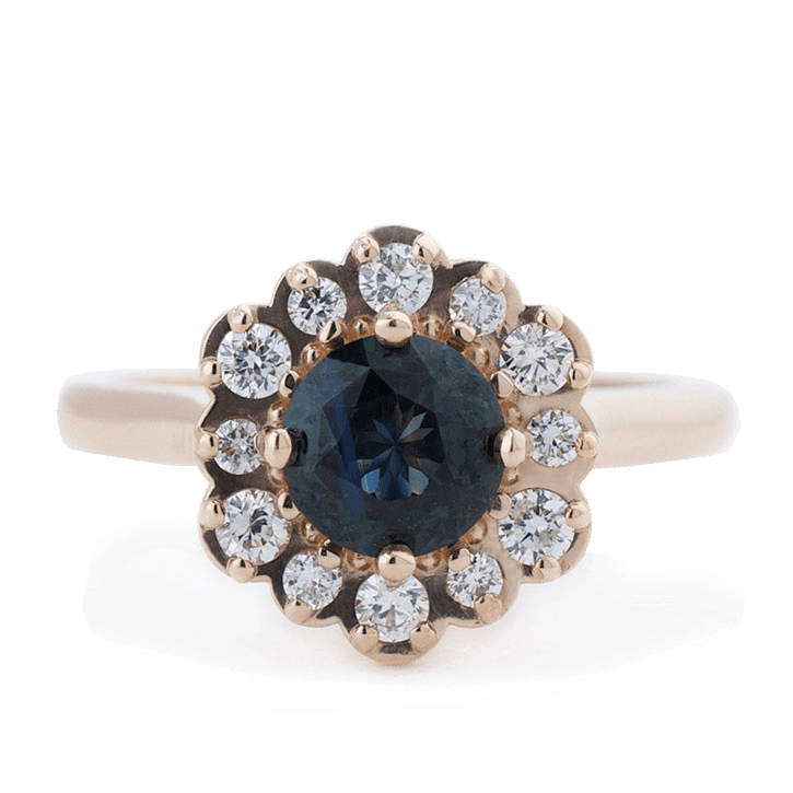custom-prong-set-engagement-ring-rose-gold-sapphire-floral-emily