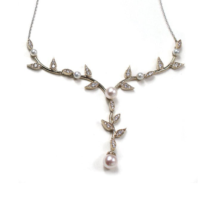 Pearl and Diamond Anniversary Necklace