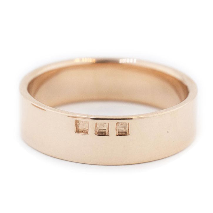 Rose Gold Square Cut Out Wedding Band