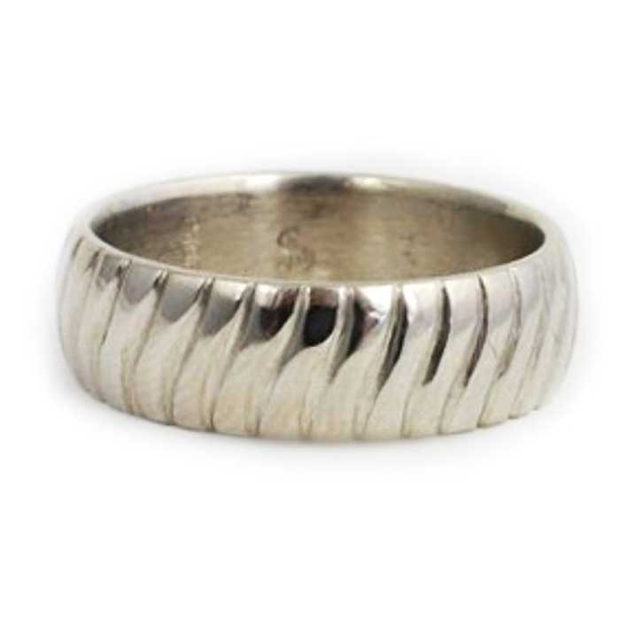 Unique Grooved Custom Wedding Band