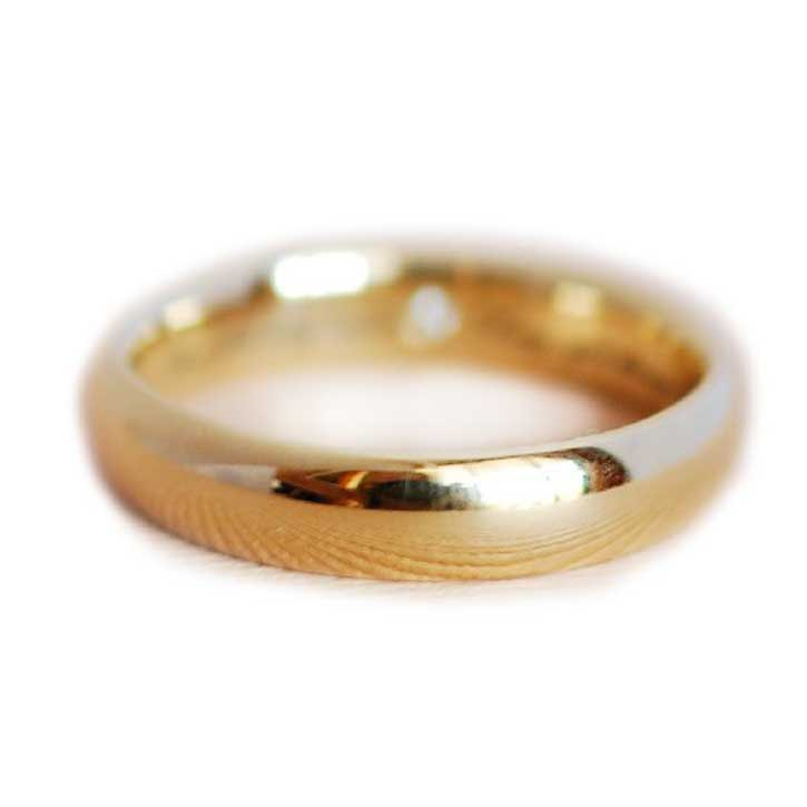Classic Men's Gold Wedding Band With Hidden Accent