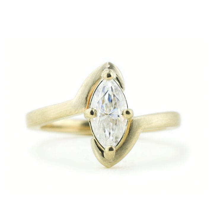 Marquise Bypass Ring